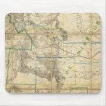 Mapa del territorio de los Estados Unidos 2 Alfombrilla De Ratón