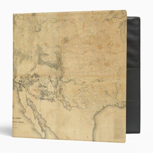 """Mapa del territorio de los Estados Unidos Carpeta 1 1/2"""""""