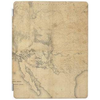 Mapa del territorio de los Estados Unidos Cover De iPad