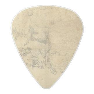 Mapa del territorio de los Estados Unidos Púa De Guitarra Acetal