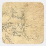 Mapa del territorio de los Estados Unidos Calcomanías Cuadradases