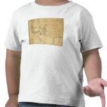 Mapa del territorio de los Estados Unidos Camisetas