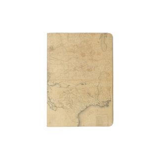 Mapa del territorio de los Estados Unidos Porta Pasaporte