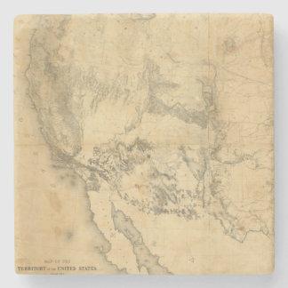 Mapa del territorio de los Estados Unidos Posavasos De Piedra