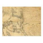 Mapa del territorio de los Estados Unidos Postal