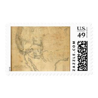 Mapa del territorio de los Estados Unidos Sellos