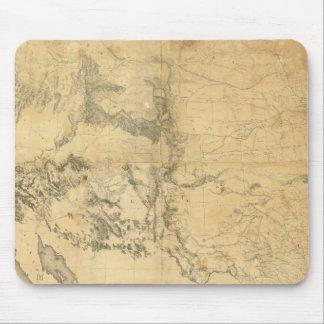 Mapa del territorio de los Estados Unidos Alfombrillas De Ratón