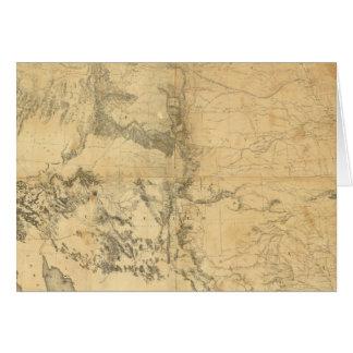 Mapa del territorio de los Estados Unidos Tarjetas