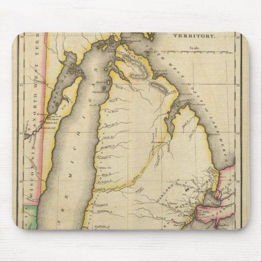 Mapa del territorio de Michigan Alfombrilla De Ratones