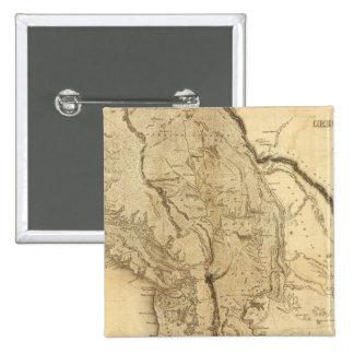 Mapa del territorio de Oregon Pin Cuadrado
