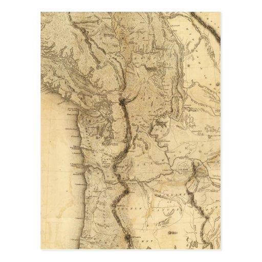 Mapa del territorio de Oregon Tarjetas Postales