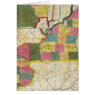 Mapa del territorio establecido de Wisconsin Tarjeton