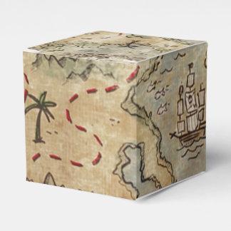 Mapa del tesoro caja para regalo de boda