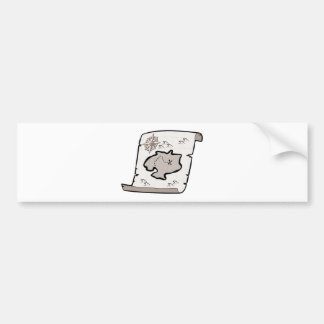 Mapa del tesoro etiqueta de parachoque