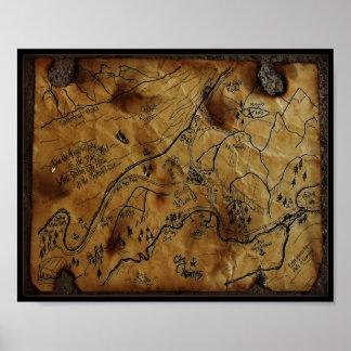 Mapa del tesoro de Haines Alaska Póster