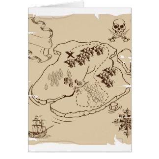Mapa del tesoro del pirata de YE Olde Tarjetón