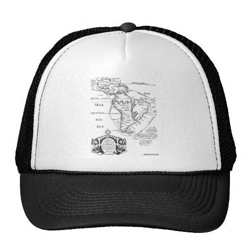 Mapa del tesoro del pirata gorras