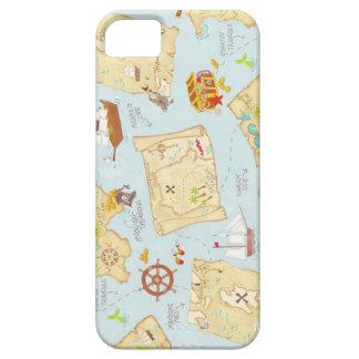 Mapa del tesoro iPhone 5 funda