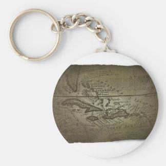 Mapa del tesoro llavero redondo tipo pin