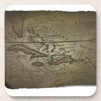 Mapa del tesoro posavasos de bebidas