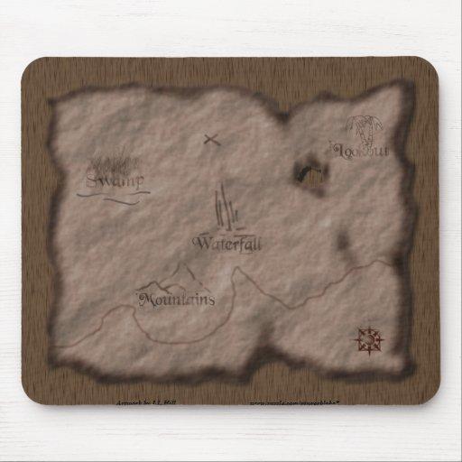 Mapa del tesoro tapetes de raton
