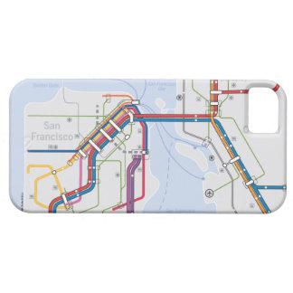 Mapa del tránsito del área de la bahía - San Franc iPhone 5 Fundas