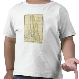 Mapa del valle de la Sacramento Camisetas