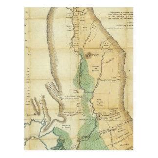 Mapa del valle de la Sacramento Postales