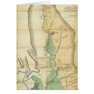 Mapa del valle de la Sacramento Tarjeta De Felicitación