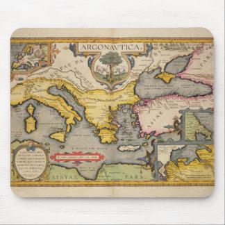 Mapa del viaje de los argonautas alfombrillas de ratones