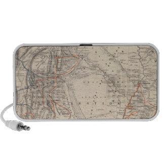 Mapa del viaje del Dr V Martin de Moussy Altavoces De Viaje