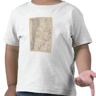 Mapa del viaje del Dr V Martin de Moussy Camisetas