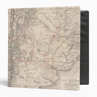 Mapa del viaje del Dr. V Martin de Moussy