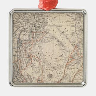 Mapa del viaje del Dr V Martin de Moussy Ornaments Para Arbol De Navidad