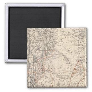 Mapa del viaje del Dr V Martin de Moussy Imán De Frigorífico