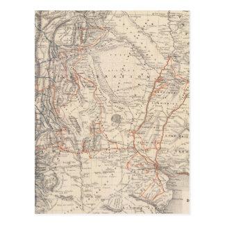 Mapa del viaje del Dr V Martin de Moussy Postales