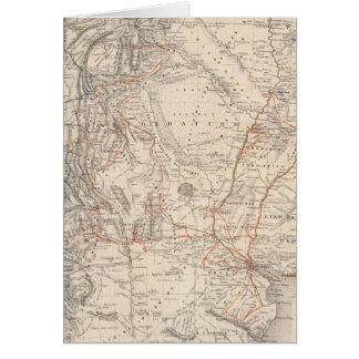 Mapa del viaje del Dr V Martin de Moussy Tarjeton