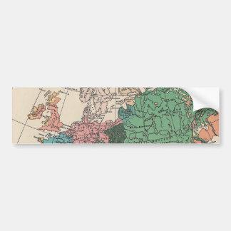Mapa del viaje del vintage pegatina de parachoque