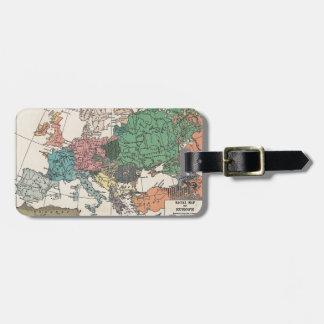 Mapa del viaje del vintage etiquetas para maletas