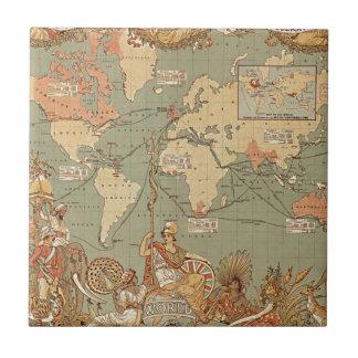 Mapa del Victorian del vintage del Imperio británi