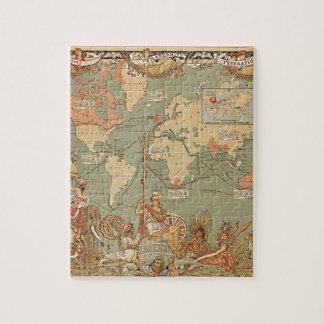Mapa del Victorian del vintage del Imperio británi Rompecabeza