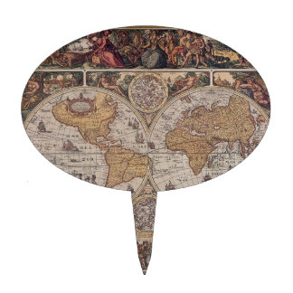 """Mapa del """"Viejo Mundo """" Palillos De Tarta"""