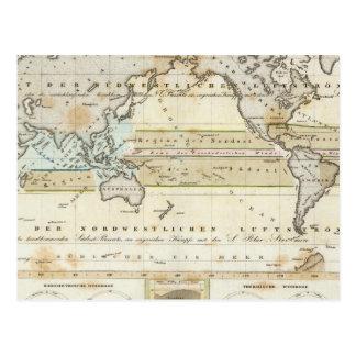 Mapa del viento de la tierra postal