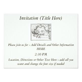 """Mapa del vintage 1806 - Australasie y Polynesie Invitación 5.5"""" X 7.5"""""""