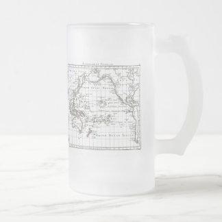 Mapa del vintage 1806 - Australasie y Polynesie Jarra De Cerveza Esmerilada