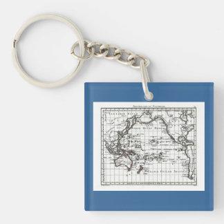 Mapa del vintage 1806 - Australasie y Polynesie Llavero