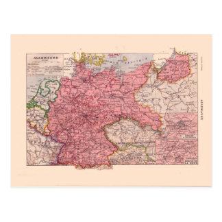 Mapa del vintage, 1920, Alemania Postales