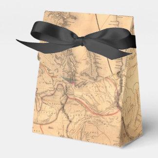 Mapa del vintage cajas para regalos de boda