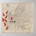 Mapa del vintage de 1800) marcadores del mapa de E Impresiones