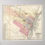 Mapa del vintage de Albany NY (1874) Impresiones